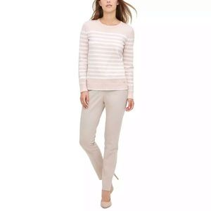Calvin Klein NWT pink and white sweater